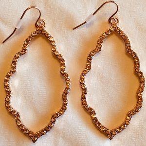 Rose Gold Moroccan Rhinestone Earrings